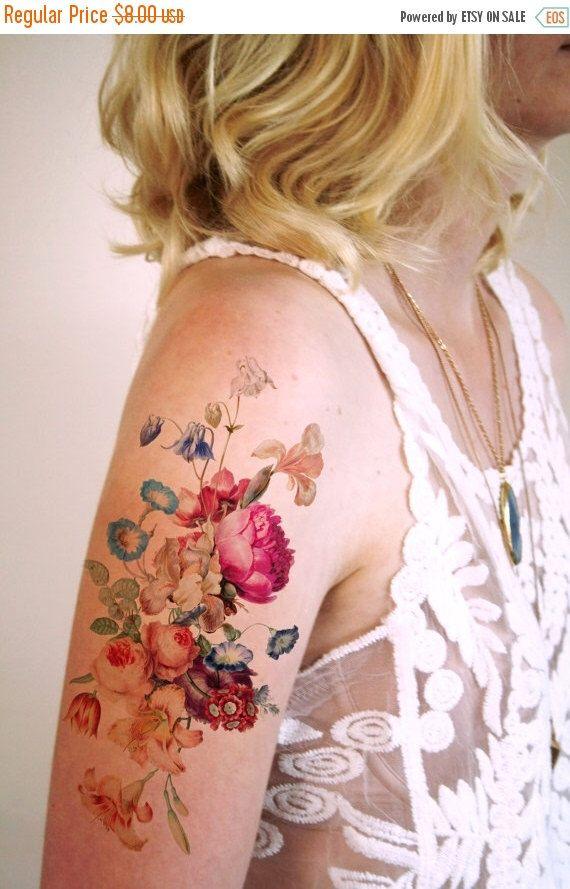 BLACK FRIDAY floral tatouage temporaire VENTE Vintage / boho temporaire tatouage / tatouage temporaire festival / tatouage temporaire Bohème / festival par Tattoorary sur Etsy https://www.etsy.com/fr/listing/226651084/black-friday-floral-tatouage-temporaire
