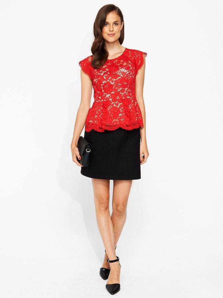 Liv Lace Peplum | Portmans- Portmans #fashionblogger #youngandpolished #lace #workready