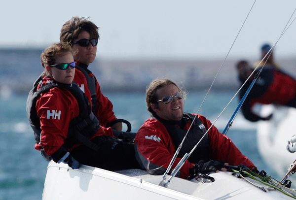 Alexander Wang-Hansen, Per Eugen Kristiansen, Marie Solberg. Bronse i seiling