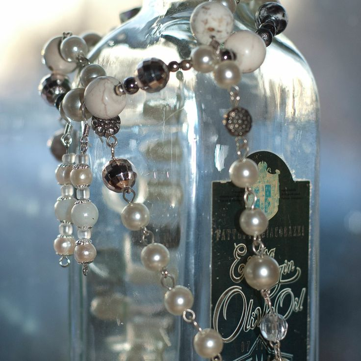 self made jewellery on a bottle