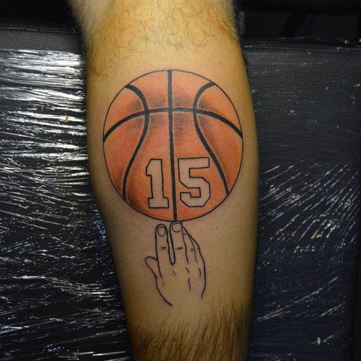 Love and basketball heart tattoo