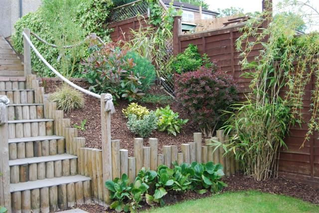 Quot Log Retaining Wall Quot Design Tanalised 4 Inch Round Poles