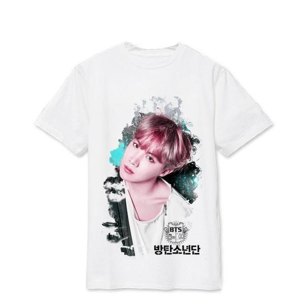 Bts Bangtan Boys Wings Suga V Album Live Print Loose Shirts Hip Hop Tshirt T Shirt Short Sleeve Tops T Shirt Cool Printed T Shirts Hip Hop Tshirts Bts Clothing