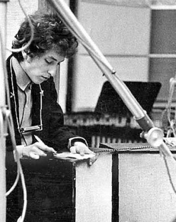 Bob Dylan. Studio A Columbia Recording Studios  New York 1965