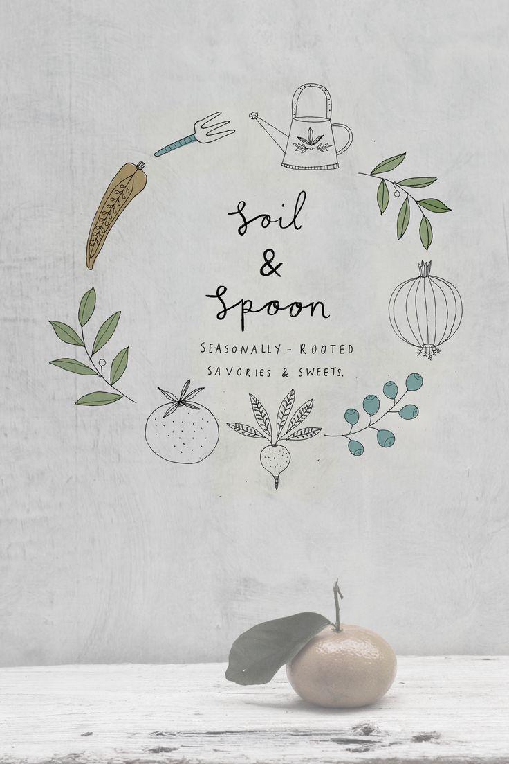 Soil and spoon branding. Ryn Frank www.rynfrank.co.uk