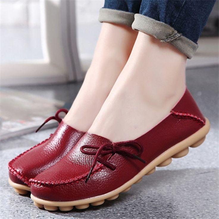 2016 Nuevo Cuero de LA PU Mujeres de Los Planos Mocasines Mocasines Conducción Salvaje de las mujeres Zapatos Casuales Zapatos de Ocio Conciso zapatos Planos de 15 Colores ST179