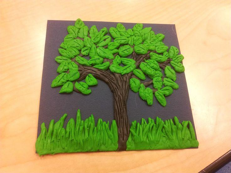 Creativity has no bounds: Tree - plasticine art