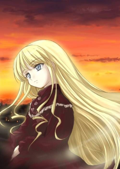 Shinku With Her Hair Down Rozen Maiden Picture Para
