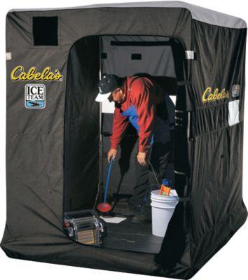 Cabela 39 s ice team 5600 ice shelter cabelaswishlist ice for Cabela s ice fishing