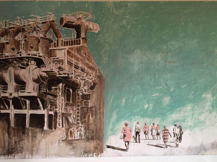 """""""The Church"""" acrilico sobre tela by Pereyra"""