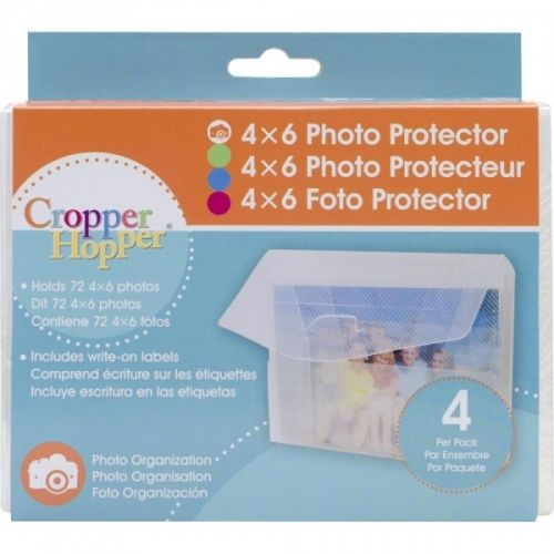"CROPPER HOPPER - PHOTO - NEGATIVE PROTECTOR 4X6"" Praktisk boks til oppbevaring av dine fotobilder eller til oppbevaring av andre småting. Pakken inneholder 4 stk.  ADVANTUS-Cropper Hopper Photo & Negative Protector Cases. These handy cases each hold up to seventy-two 4x6 inch photos and negatives for safe and secure storage or transport. They are also great for organizing large embellishments, clear stamps, sheets of rub-ons, stickers, and much more. Each protector is made of a durable, ..."