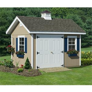 8' x 12' Studio Guest House W/ Floor Kit - The Studio Guesthouse is not your typical shed; it is an upscale garden building. The beautiful building shell can serve as a great studio, guesthouse, garden building, gift shop, office, den, outdoor storage building, playhouse, workshop, etc.