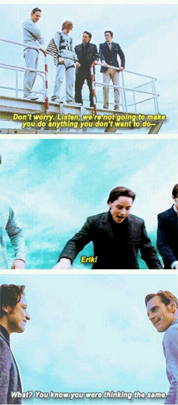 X-Men: First Class... Erik is the supportive father that will make you do things even if you are sacred...