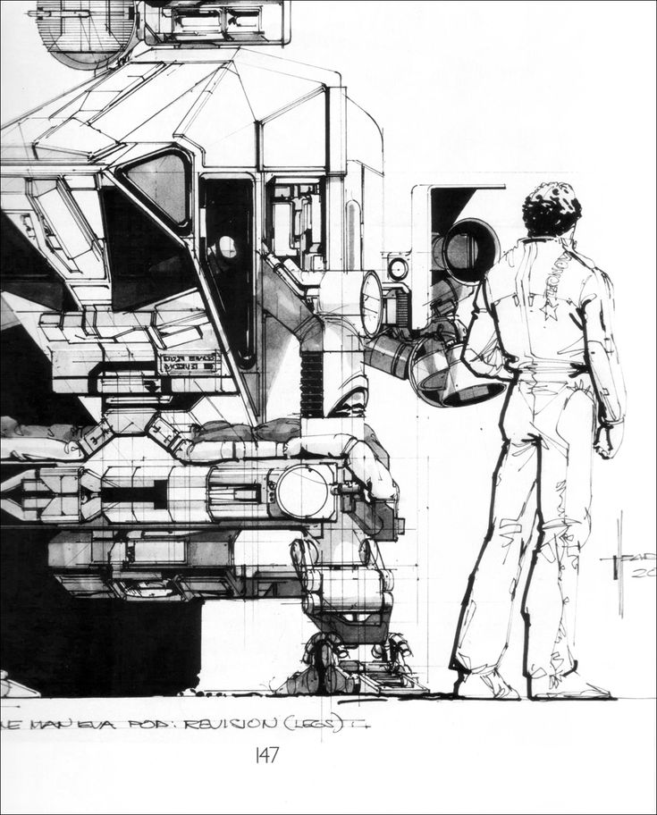 Syd Mead  2010: The Year We Make Contact  Concept Art