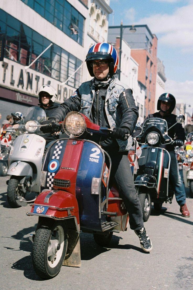 Taken on a Olympus OM40 Fuji Superia Film St George's Day Parade 2017 Manchester, England  #vespa, #scooter, #lambretta, #manchester, #england, #fuji, #streetphotography, #uk, #vinatge, #photography