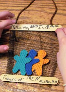 For a Sunday School Project? Great website full of ideas for art projects made out of scrap/recycled material