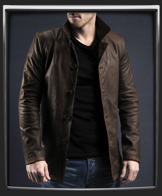 Mens Brown Leather Jacket, Men's Coat, Real Leather Coat, Mens casual outfit