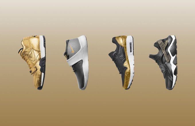 Nike Just Released a Golden Sneaker Collection for Super Bowl 50