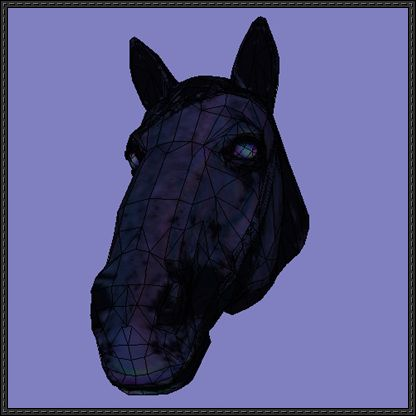 Horse Head Ver.2 Free Papercraft Download - http://www.papercraftsquare.com/horse-head-ver-2-free-papercraft-download.html