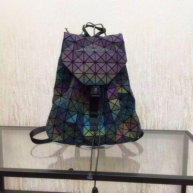 2016 Nouveau Bao bao femmes nano sac Diamant Treillis Fourre-Tout géométrie Matelassé sac à dos sac sacs femmes Le caméléon série