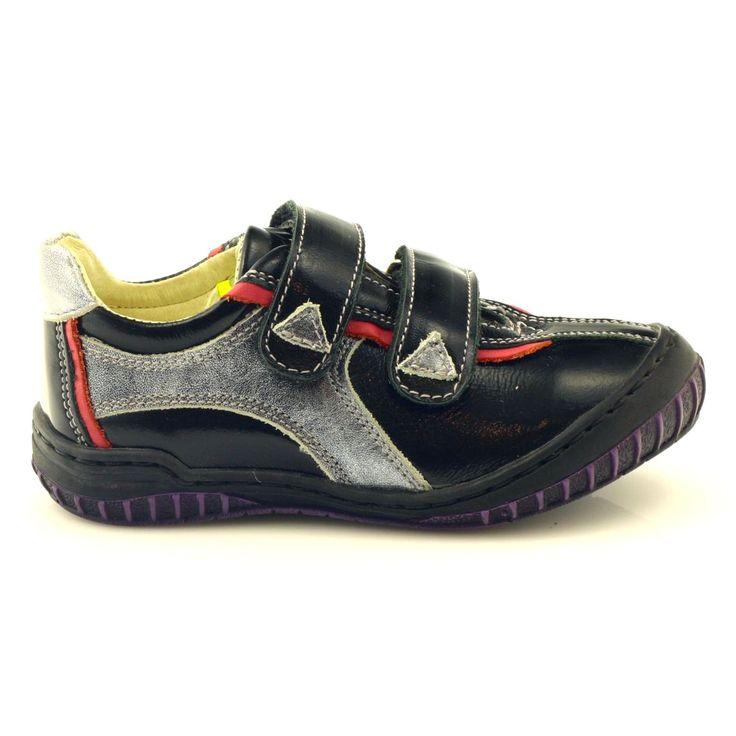 Antylopa Polbuty Dziewczece Lakier Rzepy 490 Czarne Rozowe Szare Shoes Sneakers Fashion