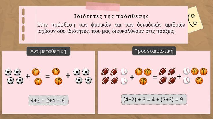 Πρόσθεση και αφαίρεση φυσικών και δεκαδικών αριθμών