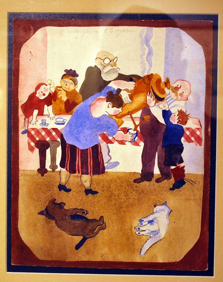 "http://evitebsk.com/w/images/0/03/Harms_1.jpg Д. Хармс. ""Иван Иваныч Самовар"". Иллюстрации. 1929."