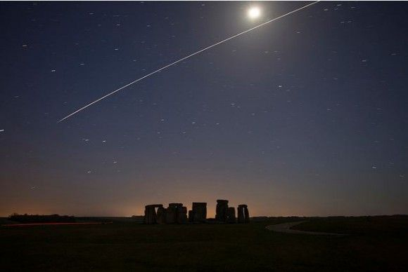 International Space Station pass over Stonehenge, Wiltshire UK, April 20, 2013. Credit and copyright: Tim Burgess. Used by permission.