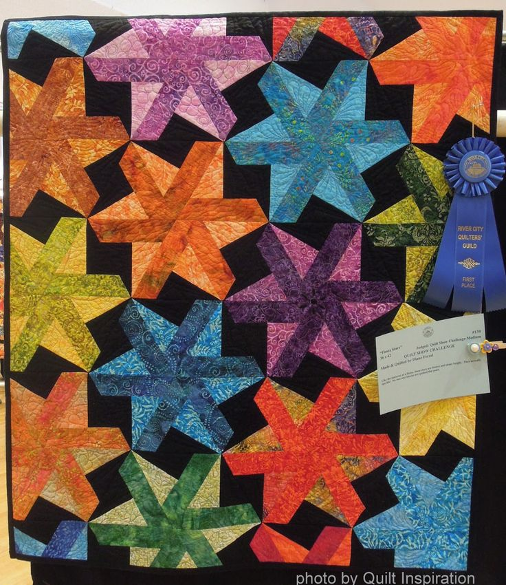 "Fiesta Stars, 36 x 42"", made and quilted by Diane Ferrel"
