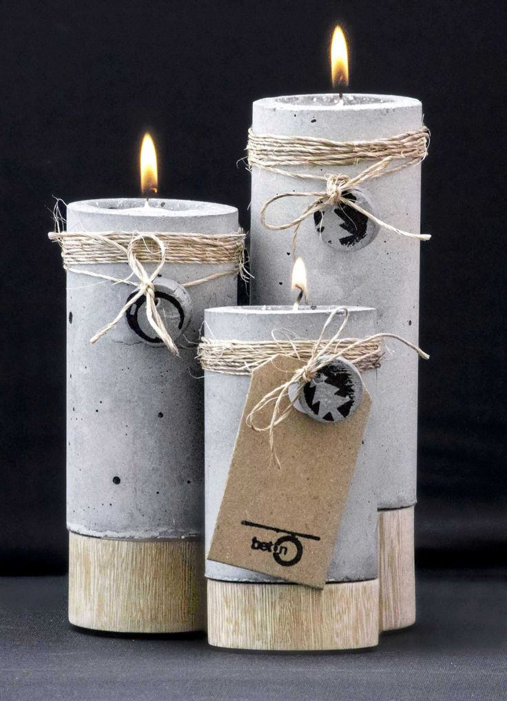 Ide til at pynte beton lysestager