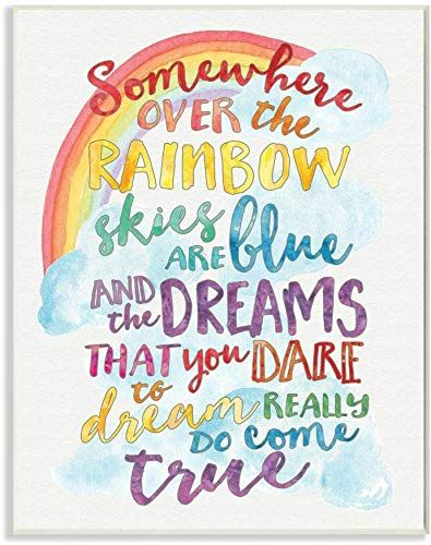 10x15 Room: The Stupell Industries Somewhere Rainbow Wall Plaque