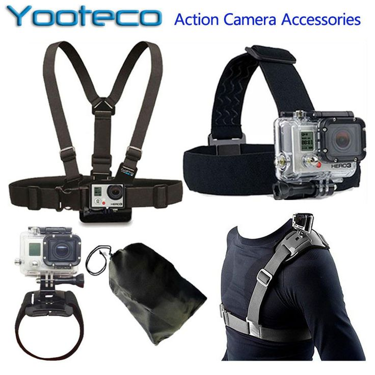 For GoPro Accessories Kit Head Belt Chest Belt Wrist Strap Bag Strap for Go pro 4 SJCAM SJ4000 sj5000 Xiaomi Yi EKEN H9 H9R Cam