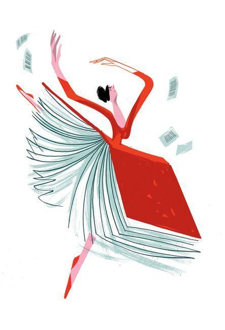 Baile literario… danzamos entre las hojas del libro (ilustración de Joao Fazenda)