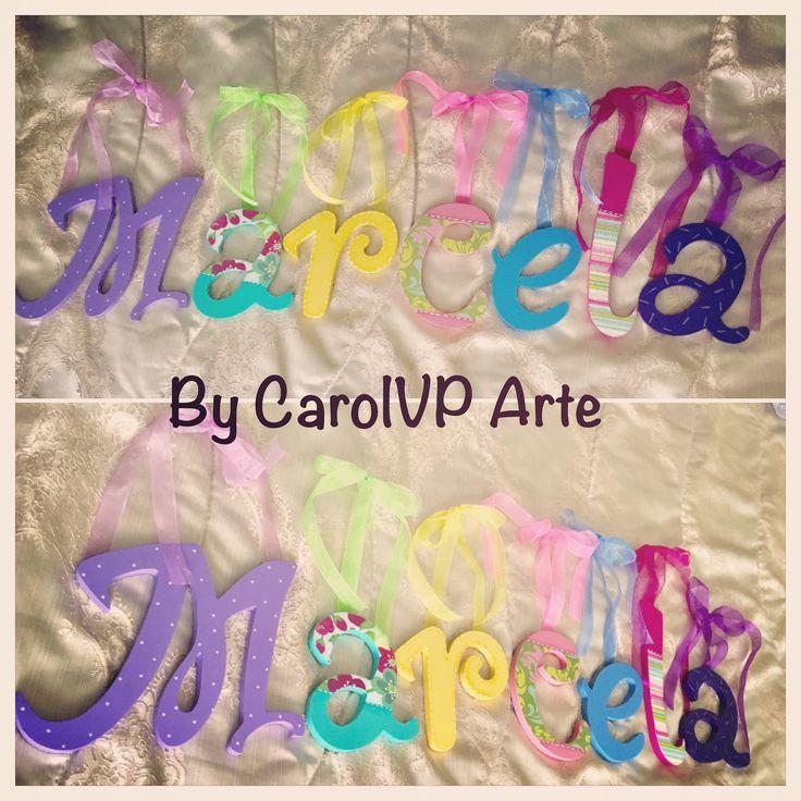 Nombre para cuarto de niña by CarolVP arte