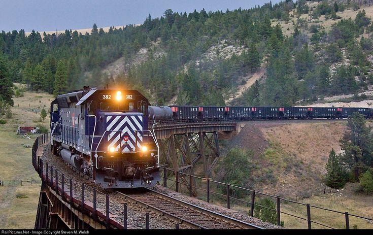 RailPictures.Net Photo: MRL 382 Montana Rail Link EMD SD45 at Skyline, Montana by Steven M. Welch