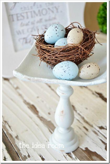 Use faux robin eggs to accessorize