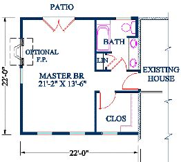 Cost of home additions master bedroom conversion pinterest home additions bath and master Master suite addition behind garage