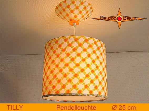 Leuchte TILLY Ø 25 cm Pendellampe mit Diffusor und Baldachin Retro. Ein Lächeln geht durch den Raum mit dem original Punkte-Design der 70er Jahre: