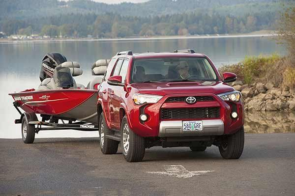 Towing capacity math. When the weight of the boat/trailer combo is added to the curb weight of the vehicle, the total must be less than the GCWR or you risk not being able to control the truck/trailer combo.