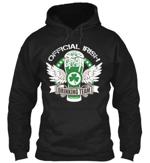 Official Irish Drinking Team Black Sweatshirt Front