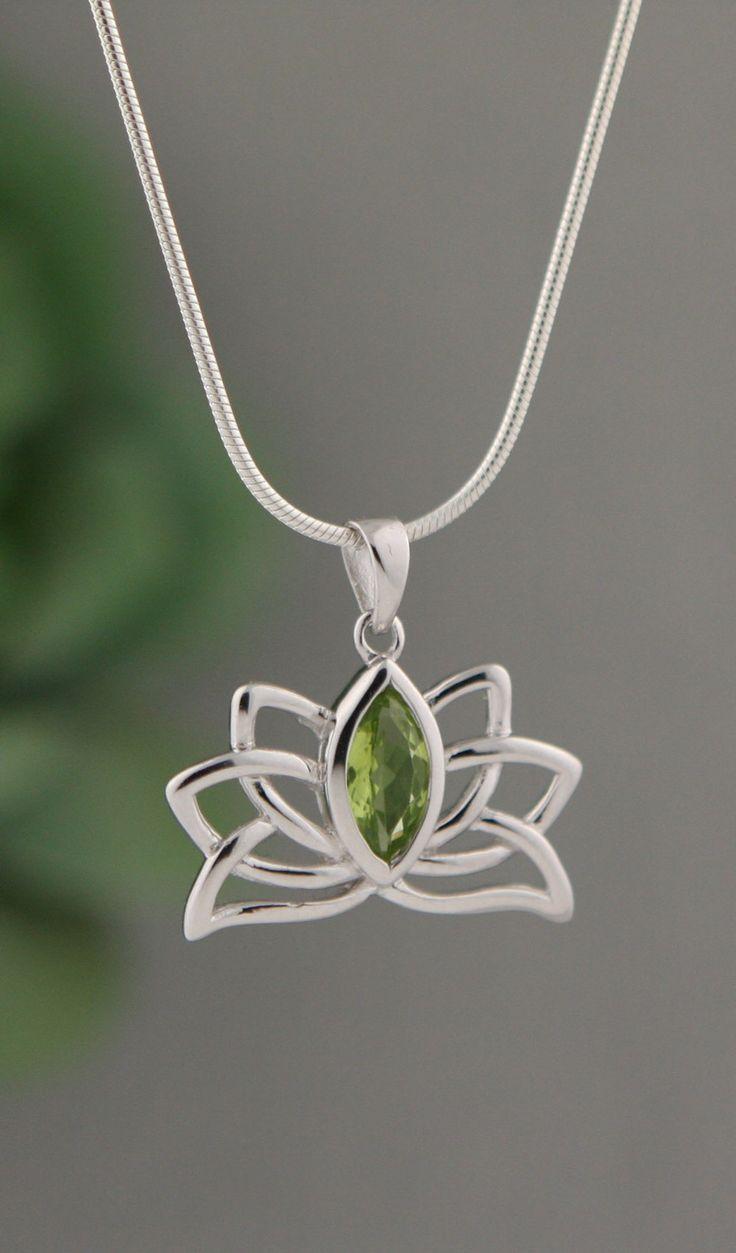 Peridot Lotus Pendant
