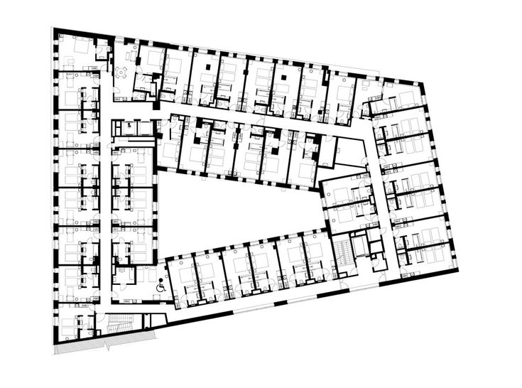 Image result for typical hotel floor plans