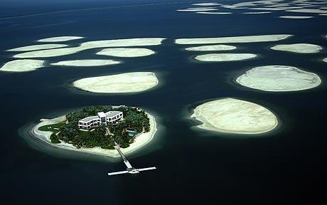 World Shaped man made Archipelago, Dubai