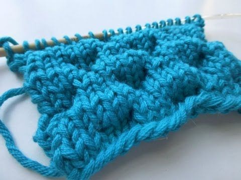 """▶ Knit with eliZZZa * Knitting Stitch """"Bubbles"""" - YouTube"""