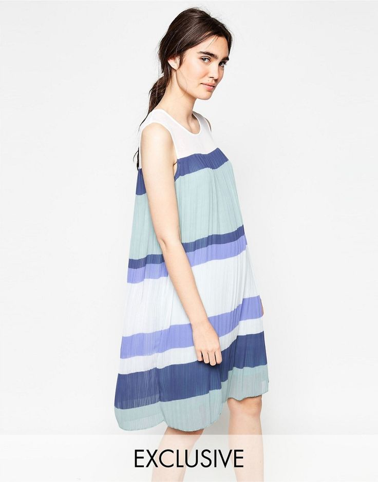 Buy it now. Y.A.S Colourblock Pleated Dress - Multi. Casual dress by Y.A.S., Lightly pleated woven fabric, Round neckline, Striped design, Swing style, Relaxed fit, Machine wash, 100% Polyester, Our model wears a UK S/EU S/US XS and is 173cm/5'8 tall. ABOUT Y.A.S. Y.A.S. � �your apparel and style� � sees the successful Vero Moda Very transformed into a contemporary, fashion-forward brand. Exuding understated cool, Y.A.S. is for the independent girl who sees what she wears as a persona...