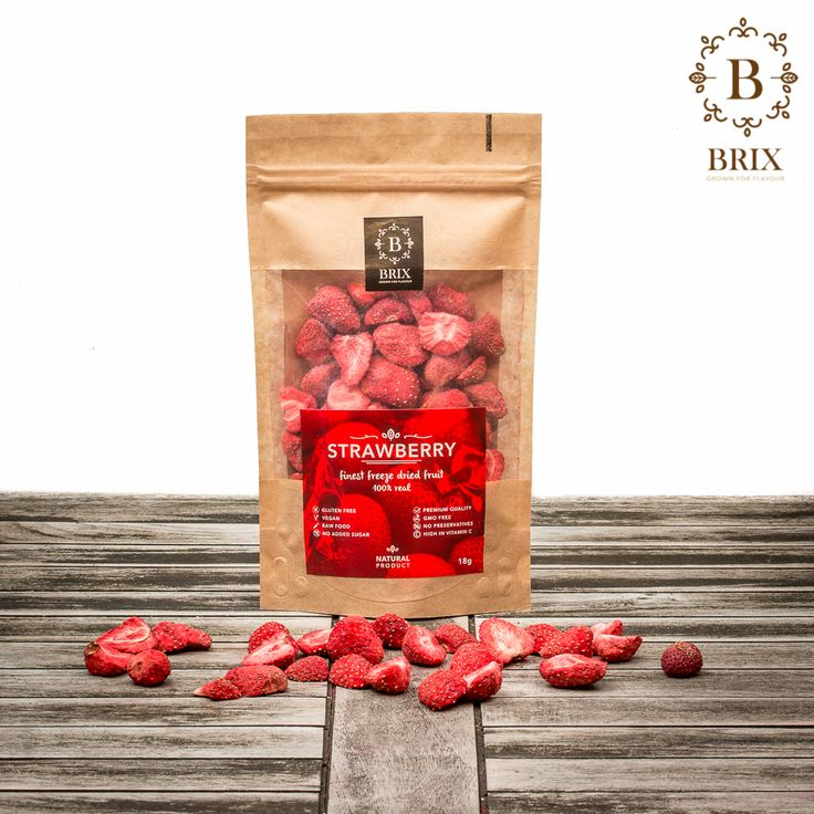 Finest freeze dried crispy Strawberries. Photo courtesy of Brix-Grown for flavour #brixproducts #brixgrownforflavour #freezedriedfruitthatchangedmylife #FreezeDriedFruit #raw #vegan #healthy #crispy #strawberry #natural #noaddedsugar #foodpic  #flavour #tasty #health #healthyfood #product #design