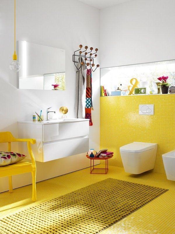 Yellow Bathroom Ideas For Modern Bathroom Yellow Bathroom Tiles Yellow Bathrooms Yellow Bathroom Decor