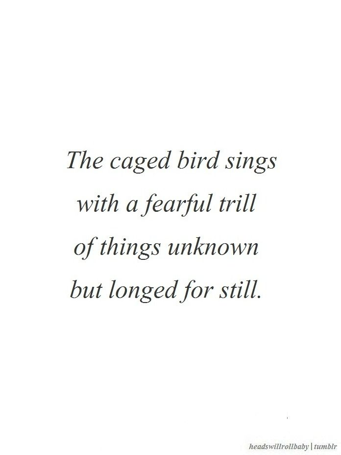 Maya Angelou I Know Why The Caged Bird Sings Headswillrollbaby Facebook Singing Quotes Bird Quotes Quotes
