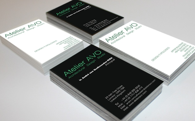 Name card Design for Atelier AVO
