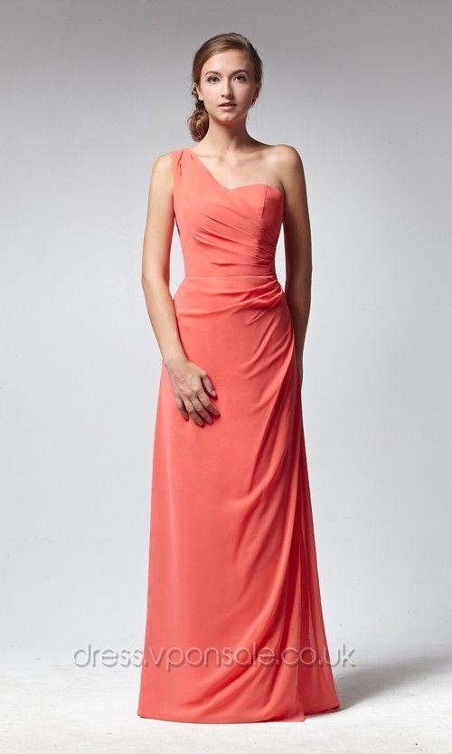 long Perfect One-shoulder Bridesmaid Dress VPBNA115 [VPBNA115]